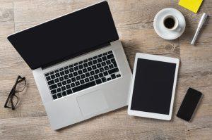 Outils de travail mac et tablette